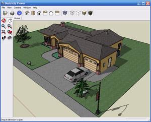 Capture d'écran du logiciel SketchUp Viewer 18.0.16975