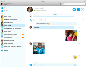 Capture d'ecran du logiciel Skype 8.60.0.76 fr - MacOS