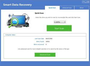 Capture d'écran du logiciel Smart Data Recovery 5.0 fr
