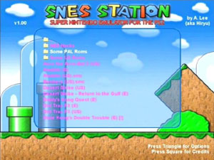 Capture d'écran du logiciel Snes-Station 0.2.4