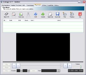 Capture d'ecran du logiciel SubMagic 0.71