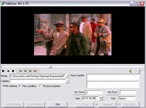Capture d'écran du logiciel SubSync 0.2.15