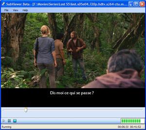Capture d'ecran du logiciel SubViewer 4.0.5