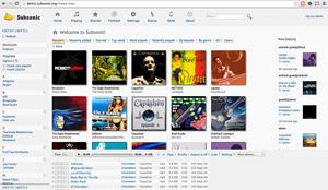 Capture d'écran du logiciel Subsonic 6.1.3 fr