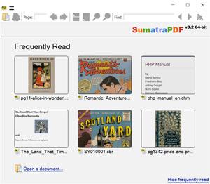 Capture d'ecran du logiciel SumatraPDF 3.2 fr