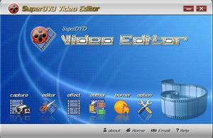 Capture d'écran du logiciel SuperDVD Video Editor 1.8