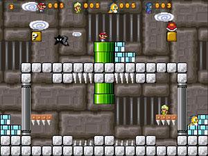 Capture d'écran du logiciel Super Mario War Wii 1.4