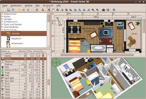 Capture d'écran du logiciel Sweet Home 3D 5.6 fr - Linux