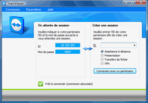 Capture d'ecran du logiciel TeamViewer Portable 15.11.2 fr - Windows