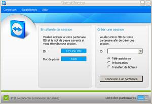 Capture d'écran du logiciel TeamViewer 12.0.76279 fr - Linux