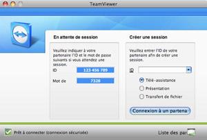 Capture d'écran du logiciel TeamViewer 13.0.5640 fr - MacOS
