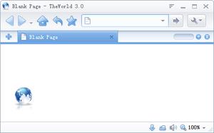 Capture d'écran du logiciel TheWorld Browser 3.5.0.3 fr