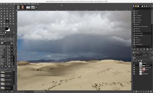 Capture d'écran du logiciel Gimp 2.8.22 fr