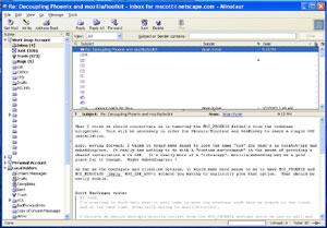Capture d'ecran du logiciel Thunderbird 52.5.0 fr - Linux