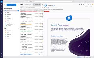 Capture d'écran du logiciel Thunderbird 60.0 fr - MacOS