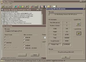 Capture d'écran du logiciel Time Adjuster 3.1 fr