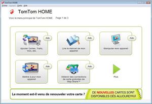 Capture d'ecran du logiciel TomTom HOME 2.11.3.150 fr