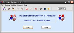 Capture d'écran du logiciel Trojan Remover 6.9.5 Build 2958