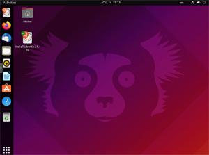 Capture d'écran du logiciel Ubuntu 16.10 fr - Desktop CD
