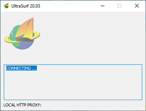 Capture d'ecran du logiciel UltraSurf 19.02