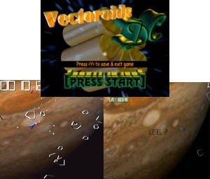 Capture d'ecran du logiciel Vectoroids DC 1.1.0