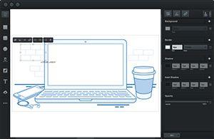 Capture d'écran du logiciel Vectr 0.1.16 (1.18)