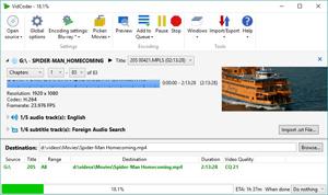 Capture d'écran du logiciel Vidcoder Portable 3.15 fr