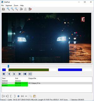 Capture d'ecran du logiciel VidePub 1.6.0