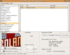 Capture d'écran du logiciel VideoManager 0.5 fr