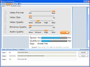Capture d'écran du logiciel Videora iPhone Converter 6.00