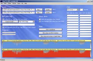 Capture d'écran du logiciel Vinyl To MP3 2.0