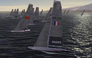 Capture d'écran du logiciel Virtual Skipper 5 Online fr