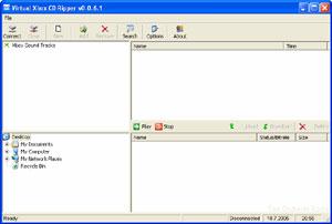 Capture d'écran du logiciel Virtual XBox CD Ripper 0.0.6.1