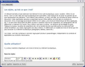 Capture d'écran du logiciel Visioo-Writer 0.6.1 fr - Windows