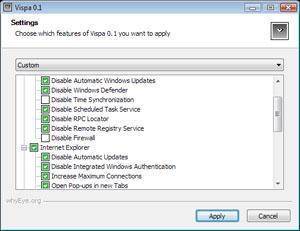 Capture d'ecran du logiciel Vispa 0.6.4
