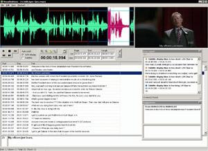 Capture d'écran du logiciel VisualSubSync 1.0.1