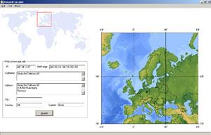 Capture d'ecran du logiciel Visual IP Locator 1.4.1 fr