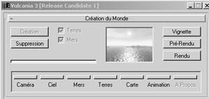Capture d'écran du logiciel Vulcania 3.3 rc1 fr
