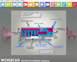 Capture d'ecran du logiciel WChqCad 2.0 fr