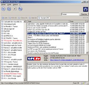 Capture d'écran du logiciel WebBulle 1.0.4 fr