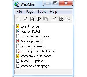 Capture d'écran du logiciel WebMon 1.0.12