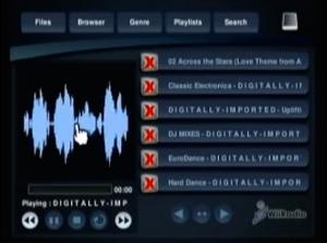 Capture d'écran du logiciel WiiRadio 0.7