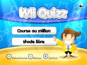 Capture d'écran du logiciel Wii Quizz 2.1.5 fr