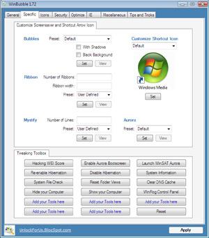 Capture d'ecran du logiciel WinBubble 2.5
