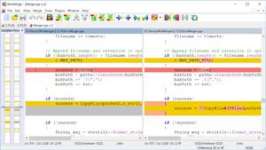 Capture d'écran du logiciel WinMerge 2.14.0 fr