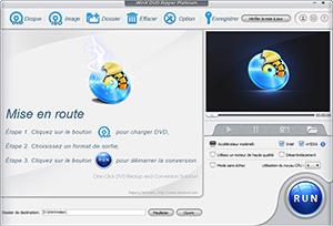 Capture d'ecran du logiciel WinX DVD Ripper Platinum 8.20.0 fr