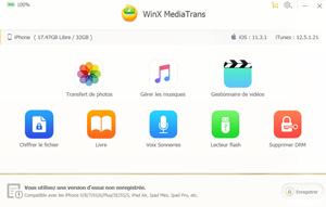 Capture d'ecran du logiciel WinX MediaTrans 6.4 fr