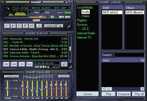Capture d'écran du logiciel Winamp 2.92 Full