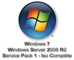 Capture d'écran du logiciel Windows 7 et Windows Server R2...