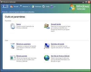 Capture d'écran du logiciel Windows Defender 1.75.1117.0 f...